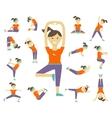 Female yoga poses vector image