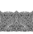 Indian ethnic seamless border with hand drawn vector image