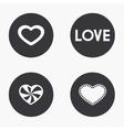 modern heart icons set vector image