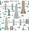 new york bridges skyscrapers seamless pattern vector image