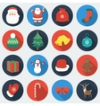 Set of Christmas Icons Flat design style with vector image