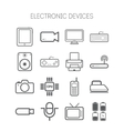Set of simple flat icons with electric devices vector image