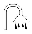 shower faucet icon vector image