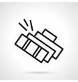 Solar panel icon simple line icon vector image
