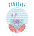 tropical paradise concept design vector image
