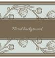 Floral vintage seamless background vector image
