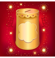 Universal blank holiday moneybox tin can template vector image vector image