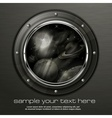 Grayscale porthole vector image