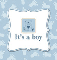 Baby boy invitation for baby shower vector image