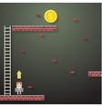 Businessmen climbing the ladder on dark vector image