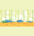 bamboos game background landscape vector image