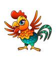 cartoon chicken isolated vector image