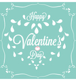 Celebration Happy Valentines Day in blue vector image