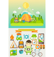 Concept of travelling vector image