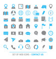 contacts icon set contacts icon set vector image