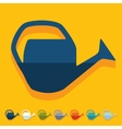 Flat design watering can vector image