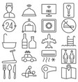 hotel service and facilities outline icon vector image