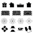 icon set in variouses poses in black color vector image