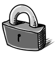 Lock cartoon sketch vector image