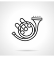 Orchestral wind instrument simple line icon vector image