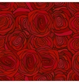 Red roses seamless pattern for valenine s day vector image