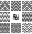 Zig zag black and white geometric seamless vector image