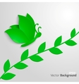 Eco Butterfly vector image vector image