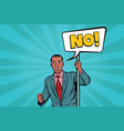 african businessman protests no vector image vector image