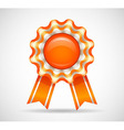Orange medal vector image vector image