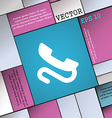 retro telephone handset icon sign Modern flat vector image