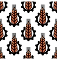 Seamless pattern of wheat with gear wheels vector image