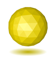 Abstract yellow low polygonal sphere vector image