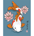 Oriental Fish - Koi Carp vector image vector image