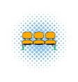 Airport seats icon comics style vector image