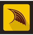 Brown wing icon in flat style vector image