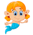 Cute mermaid girl vector image