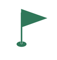 Flag icon Location marker symbol vector image