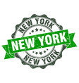new york round ribbon seal vector image