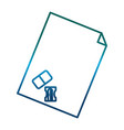 paper page and sharpener icon vector image