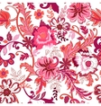 Seamless floral background Colorful red isolated vector image