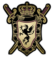 Griffin classic emblem badge shield vector