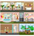 set of spa therapy concept posters banners vector image