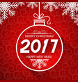 merry christmas and new year red card with winter vector image
