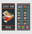 japanese restaurant menu template vector image