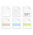 document icon templates vector image