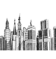 urban architecture vector image vector image