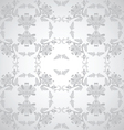 seamless floral design grey vector image vector image