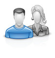 Users icon man woman vector image vector image