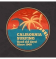 vintage poster - California Surfing good vector image