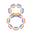 Number 8 made in rainbow colors vector image vector image